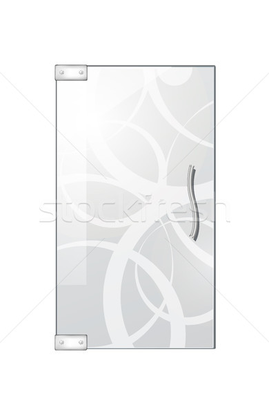 Glassy Entrance Door on Checkered Background. Stock photo © robuart