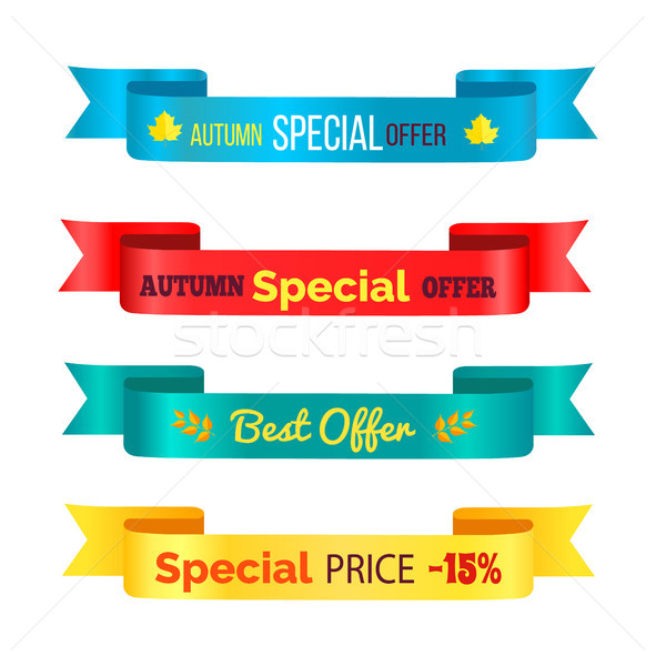 Autumn Special Offer Ribbons Vector Illustration Stock photo © robuart