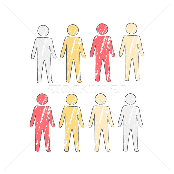 Person Icon in Four Colors Vector Illustration Stock photo © robuart