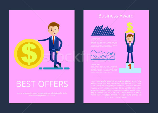Best Offers and Business Award Vector Illustration Stock photo © robuart