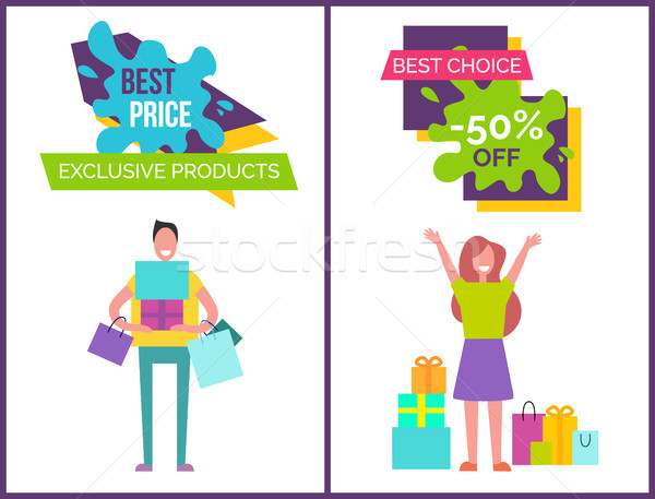Best Price Exclusive Products Vector Illustration Stock photo © robuart