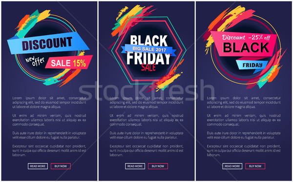 Foto stock: Desconto · black · friday · teia · página · grande · venda