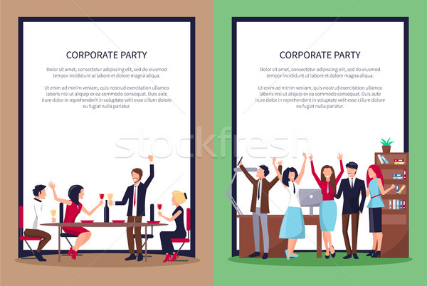 Web Page of People Partying Vector Illustration Stock photo © robuart