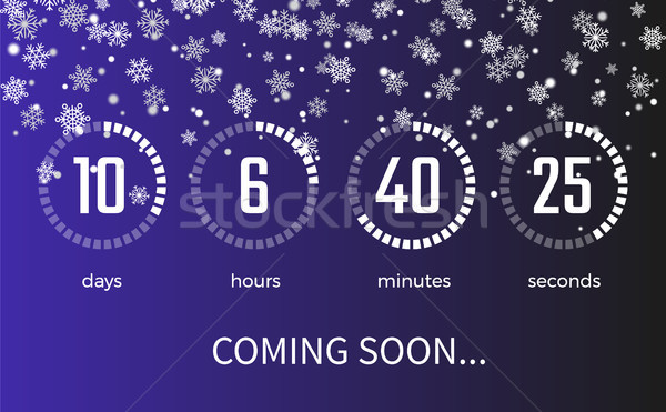 Coming Soon Timer and Icons on Vector Illustration Stock photo © robuart