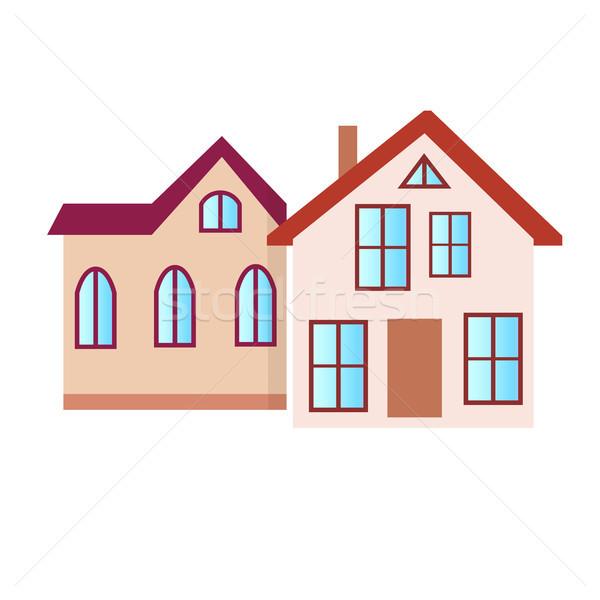 Residencial edificio aislado blanco ilustración Foto stock © robuart