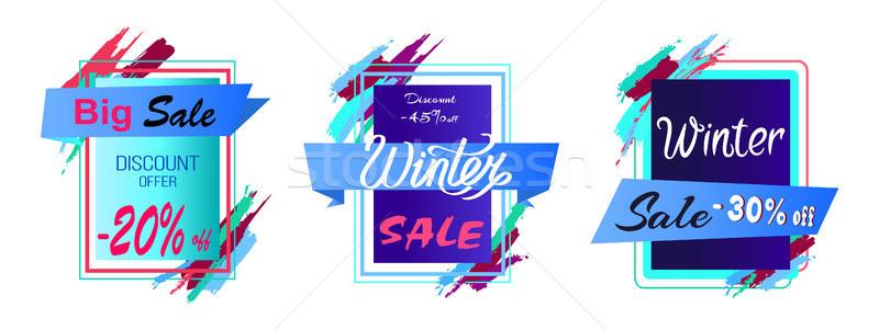 Big Sale Discount -45 Off Vector Illustration Stock photo © robuart