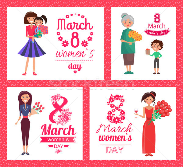 8 March Womens Day Collection Vector Illustration Stock photo © robuart