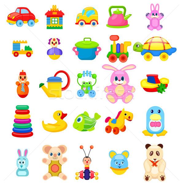 Toys for Little Children Big Illustrations Set Stock photo © robuart