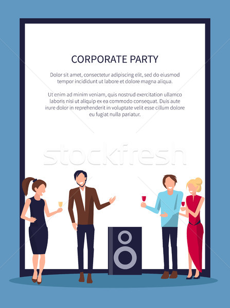 Corporate Party Disco on Vector Illustration White Stock photo © robuart