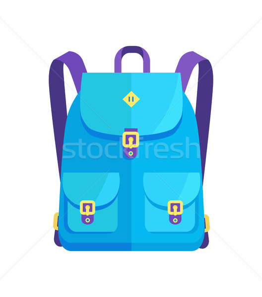 Rucksack Unisex in Blue Colors with Big Pockets Stock photo © robuart