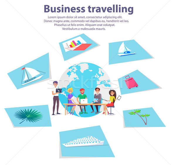 Business Travelling Agency Advertisement Banner Stock photo © robuart