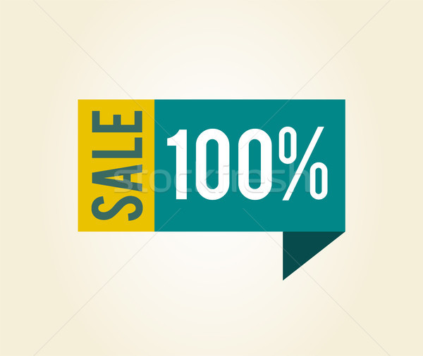 Sale 100 Label with Title on Vector Illustration Stock photo © robuart