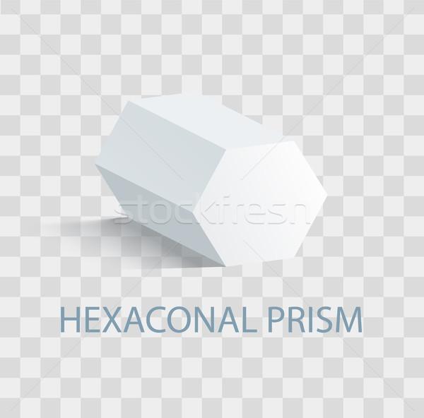 Prisma geometrica figura bianco colore Foto d'archivio © robuart