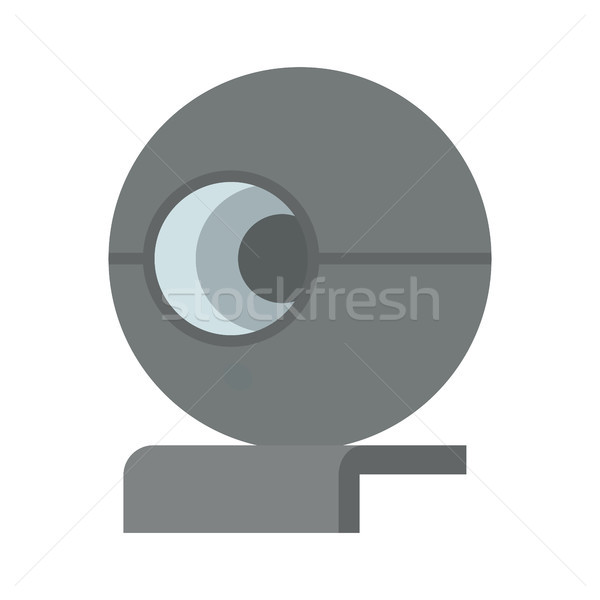 Cute Web Camera Template Color Vector Illustration Stock photo © robuart