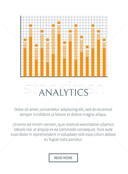 Analytics internet page texte échantillon boutons Photo stock © robuart