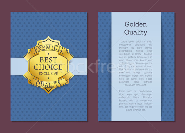 Best Choice Exclusive Quality Product Gold Label Stock photo © robuart
