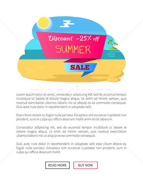 Desconto 25 verão venda cartaz Foto stock © robuart