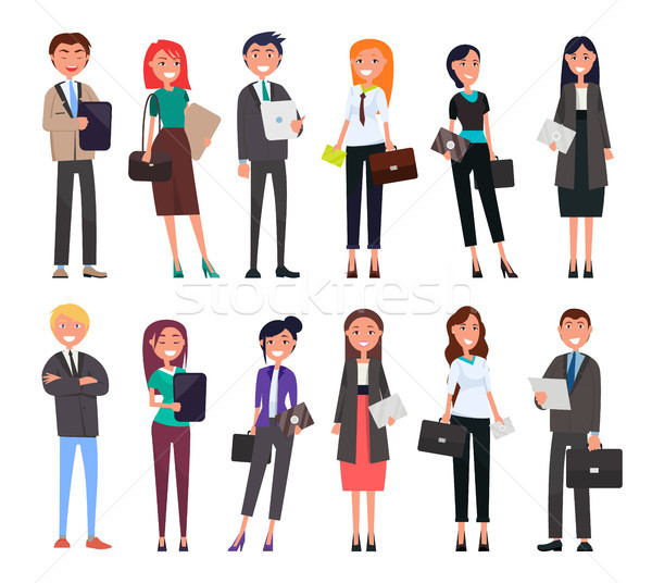 Businesspeople Elegant Expensive Suits, Successful Stock photo © robuart