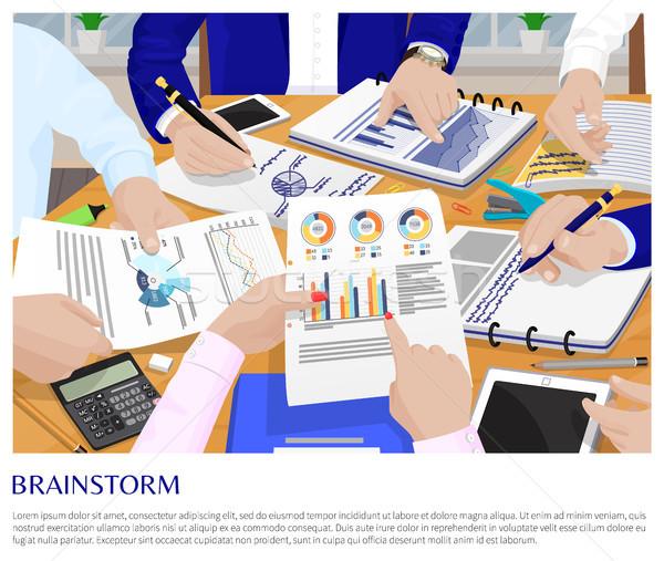 Proceso negocios conversación tarjeta empresarios Foto stock © robuart