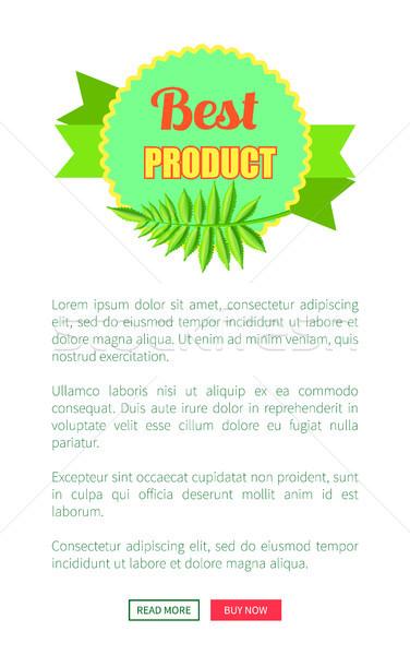 Legjobb termék fényes promo logotípus pálmalevél Stock fotó © robuart