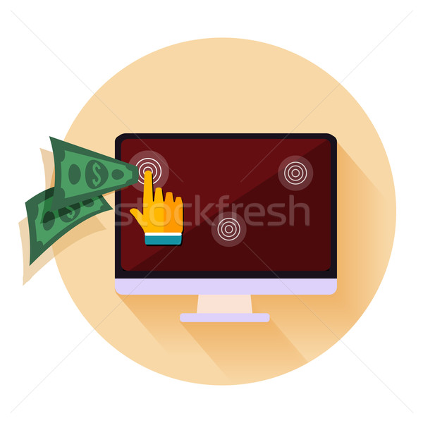 Pay per click internet advertising model when the ad is clicked Stock photo © robuart