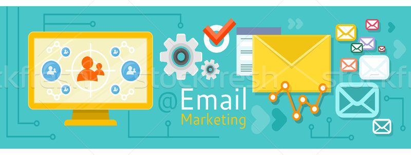 Icon internet marketing ontwerp e-mail marketing verkoop Stockfoto © robuart