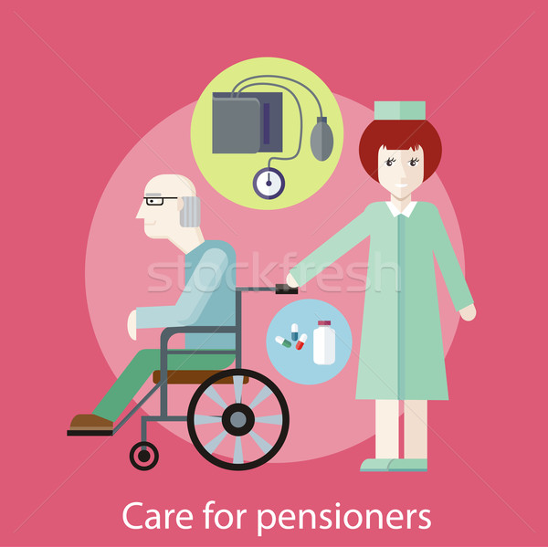 Stock photo: Care for Pensioners