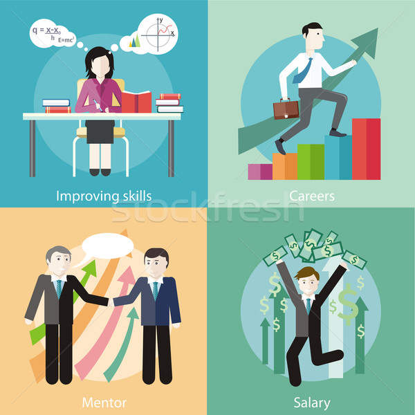 Improving Skills, Careers, Mentor, Salary Stock photo © robuart