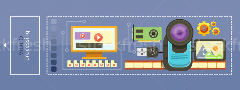 Video Processing Concept Stock photo © robuart