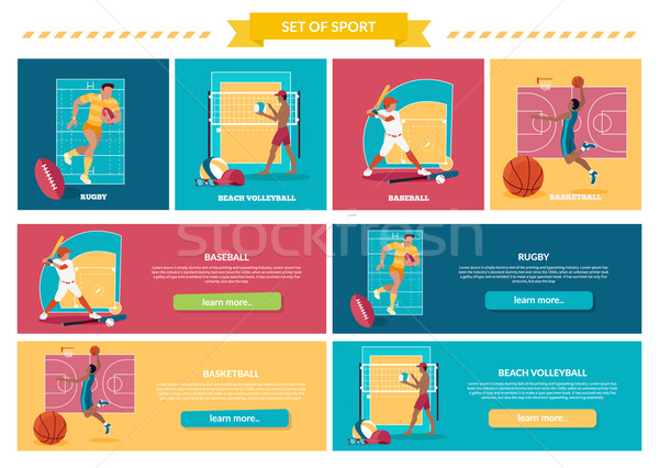 Set of Team Active Sports with Ball Stock photo © robuart