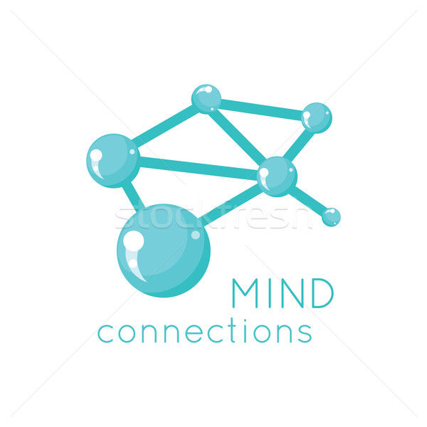 Mente connessione logo scienza design tecnologia Foto d'archivio © robuart