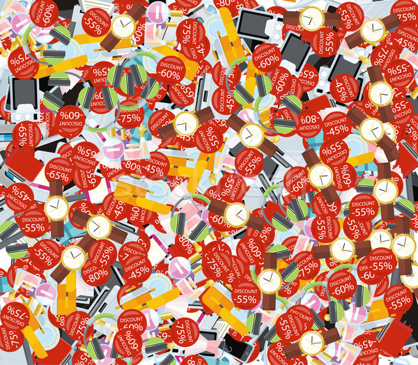 Pattern Consumerism Sale Sticker and Item Stock photo © robuart