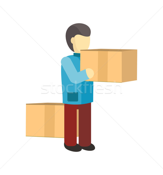 Profession Courier with Box Stock photo © robuart