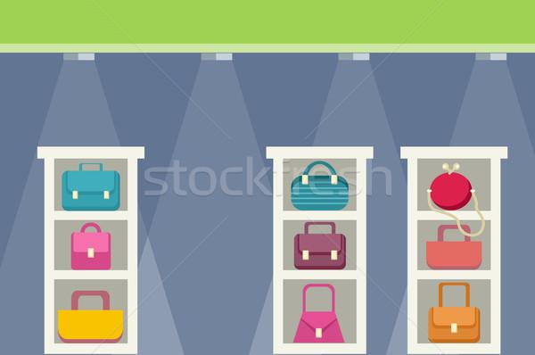 Vásárlás központ táska terv kiskereskedelem bolt Stock fotó © robuart