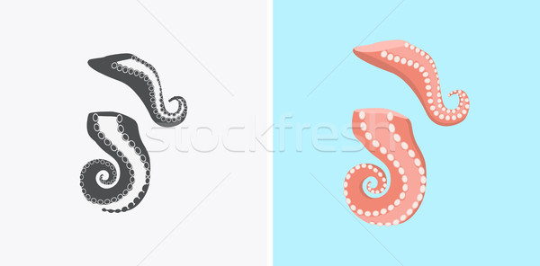 Sliced Octopus Tentacles Variations Illustration Stock photo © robuart