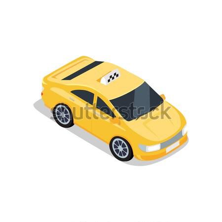 Isometric Yellow Taxi Cab Stock photo © robuart