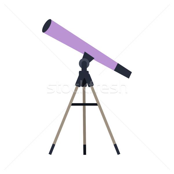 телескопом стиль дизайна веб вектора астрономический Сток-фото © robuart