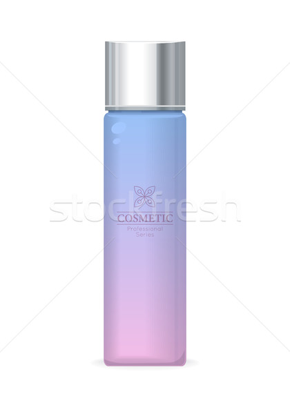 Kosmetycznych zawodowych fioletowy plastikowe rur kosmetyki Zdjęcia stock © robuart