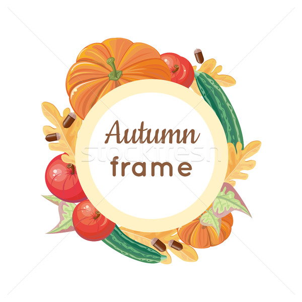 Stockfoto: Najaar · frame · vector · ontwerp · rijp · groenten