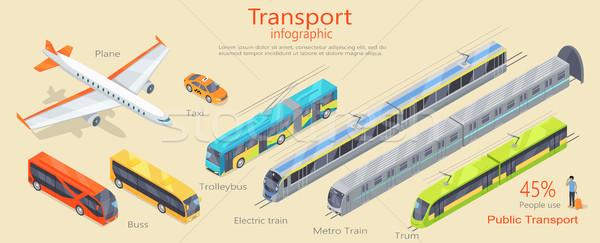 Transport Infographic. Public Transport. Vector Stock photo © robuart