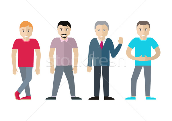 Set of Men Different Age and Status. Vector Stock photo © robuart