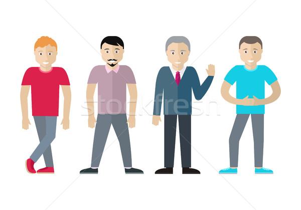 Conjunto homens diferente idade estado vetor Foto stock © robuart