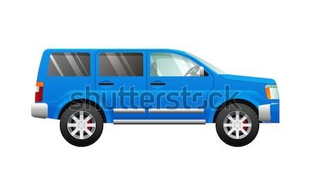 Transport. Illustration of Small Blue Automobile Stock photo © robuart