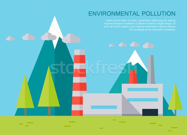 Environmental Pollution Concept Vector Banner. Stock photo © robuart
