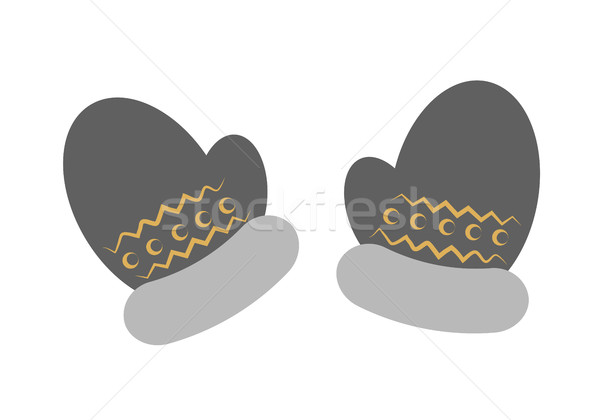 Two Mittens in Cartoon Style Isolated on White Stock photo © robuart