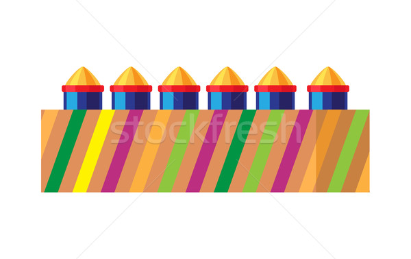 Box with Bright Rockets. Collection of Fireworks Stock photo © robuart