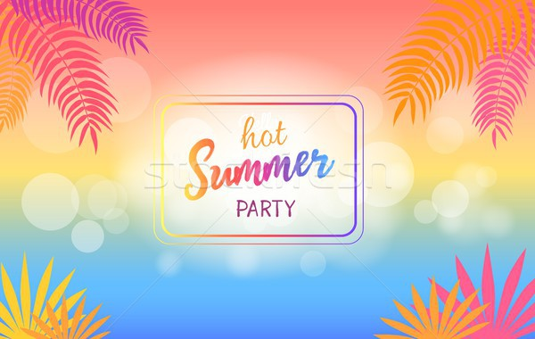 Hot Summer Party Background with Palm Trees Stock photo © robuart