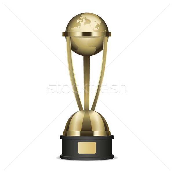 Stockfoto: Gouden · trofee · beker · aarde · grafische · icon
