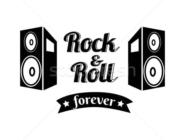 Rock rollen voor altijd lint geschreven Stockfoto © robuart