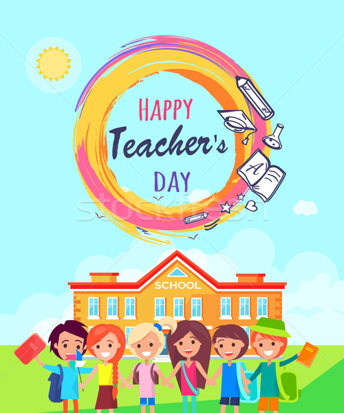 Happy Teachers Day Promo Vector Illustration. Stock photo © robuart